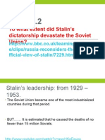 2015 Economic Impact Stalin Policies