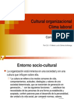 Cultural organizacional Clima laboral