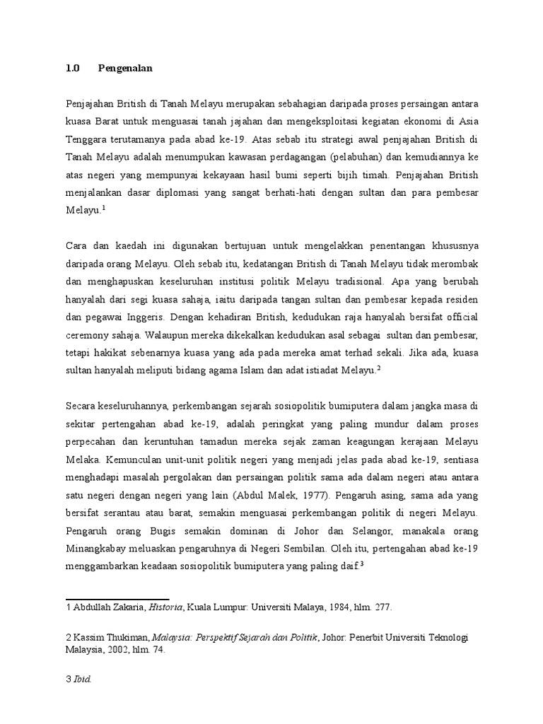 Kesan Penjajahan British Di Malaysia
