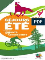 Brochure Séjours Jeunes ÉTÉ 2015