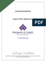 Margaret A. Cargill Foundation - Program Officer, Aging Services