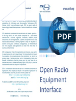 Open Radio Equipment Interface