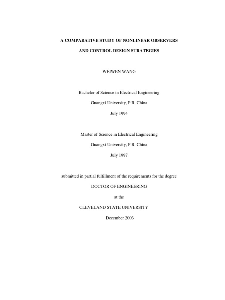 Prof Jeff Walker - PhD Thesis