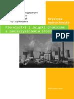 Pierwiastki i Związki Chemiczne a Zanieczyszczenia Środowiska