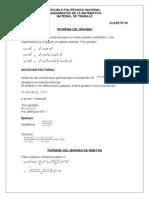 Teorema Del Binomio Progresiones