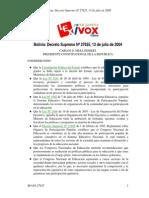 (2004) Decreto Convocatoria Congreso Nacional e Educaciòn