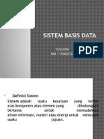 Sistem Basis Data Yolan