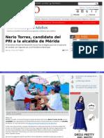 7-04-2015 Nerio Torres, candidato del PRI a la alcaldía de Mérida