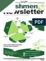 Freshmen Newsletter Issue 1.2 Print_final