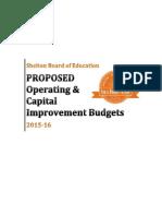 Shelton BOE 2015-2016 Budget