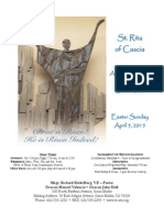 St. Rita Parish Bulletin 4/5/2015