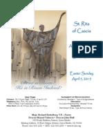 St. Rita Parish Bulletin 4/5/2015