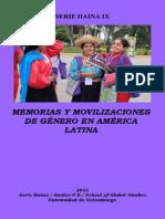 Memorias y Movilizaciones de Género en América Latina