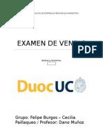 Examen Ventas