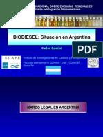 Biodiesel Situación en Argentina_INCAPE_2012