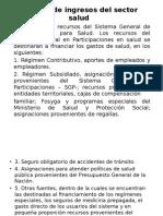 Fuentes de Ingresos Del Sector Salud