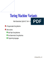 TUring and Variants