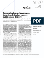 Decentralization and govemance