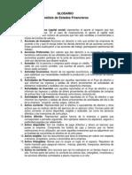 Glosario Analisis Estados Financieros i