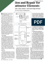 Calibration and Repair for Bird Wattmeter Elements