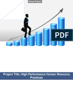 Group Project - High Performance HR Practices