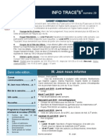 Info-TRACEESS Numéro29, le 7 Avril 2015
