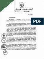 Resolución Ministerial N°199-2015-MINEDU
