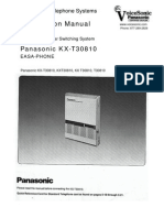 KX-T30810 Installation Manual
