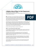 4 myths of rigor