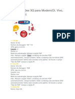 Configuração de Mdem 3g Para Todas Operadoras