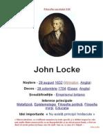Filosofia Si Pedagogia Lui John Locke