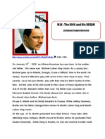 Listening Comprehension Mlk and His Dream Answer Key