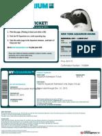 Ticket Aquarium