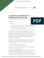 Le Risque Opérationnel _ Le Définir Pour Le Prévenir _ Primo France