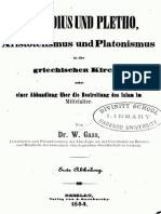 Wilhelm Gass, Gennadius und Plethon. Aristotelismus und Platonismus in der griechischen Kirche