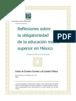 Refelexiones Obligatoriedad Educacion Docto96