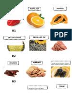 Imagenes Vitamina a c b1 b2 b9 b2 Calcio Zinc Fosforo Potasio
