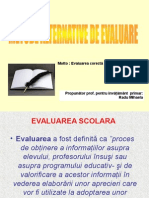 Metode Alternative de Evaluare