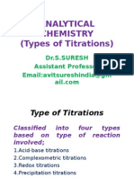 Types of Titrations