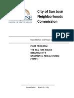 San Jose Police Dept Unmanned Aerial System Report