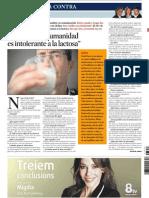 Leche - Oriol Sans, Intolerancia a La Lactosa
