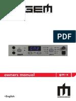 GEM GM-X Owners Manual