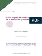 Bases Cognitivas y Conductuales de La Motivación GLOSARIO