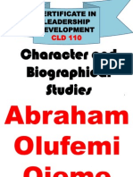 CLD110 Character and Biographical Studies