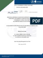 PLANEAMIENTO ESTRATÉGICO PARA EL DESARROLLO TURÍSTICO DEL VALLE DE LURÍN