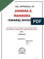 Financial Appraisal of Swaraj by JIMMY