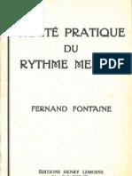 Fontaine, Traité Pratique Du Rythme Mesuré