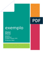 exemplo panfleto word