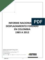 Informe de Desplazamiento 1985-2012 092013