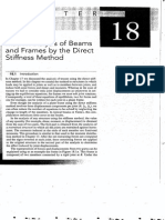 Chapter 18 Matrix Analysis of Beams and Frames by the Direct Stiffness Method